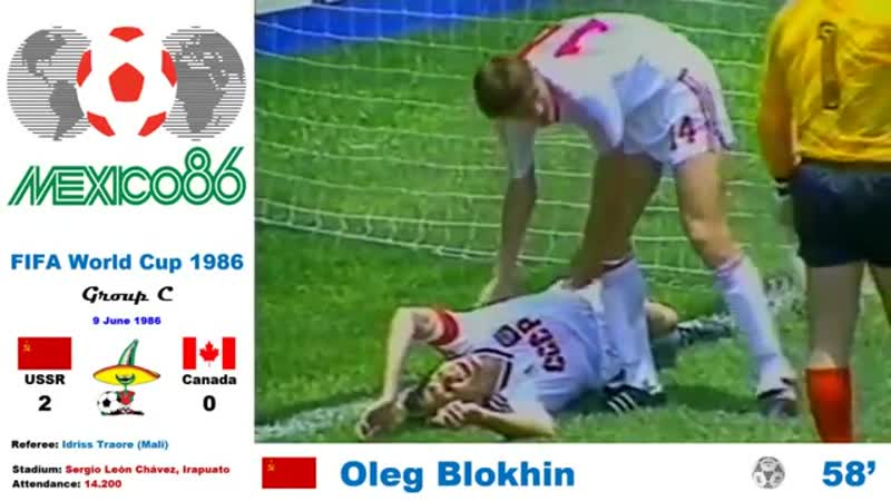 World Cup Mexico 1986: Soviet Union - Canada 2-0 (Group C) - HD