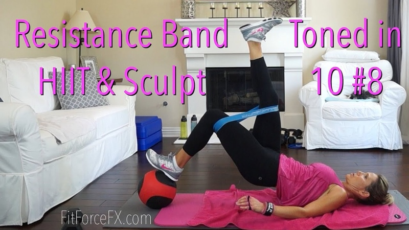 Resistance Band Total Body HIIT Sculpt Workout: Toned in 10 Series No.8 hiitworkout quickworkout