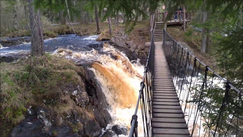 Место съемок А зори здесь тихие водопады Ахвенкоски в Карелии