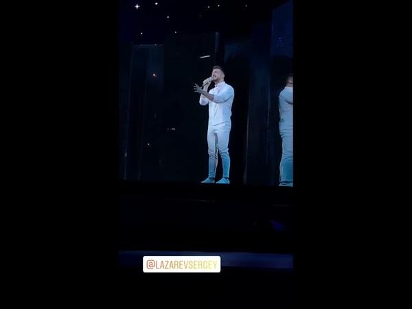 Sergey Lazarev 1. Rehearsal SCREAM ESC Russia 2019 Instagram Story video by assiazar