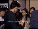 Hrithik Roshan signs autographs for young female fans, with father Rakesh by his side