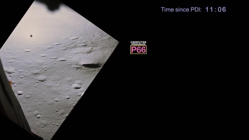Apollo 16 landing from PDI to Touchdown