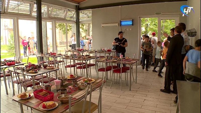 В лагере «Зарница» открылась профильная смена, в этот раз с новой столовой