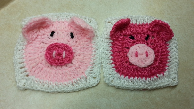 CROCHET How to Crochet Cute (PIGGY GRANNY SQUARE) TUTORIAL 95 LEARN CROCHET DYI