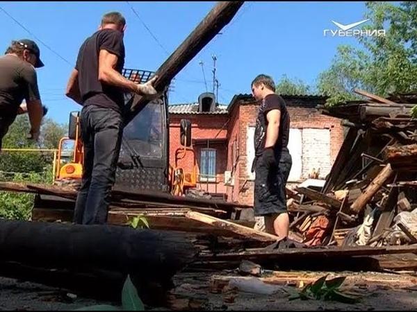 Бесхозные сараи снесли в одном из дворов Самары