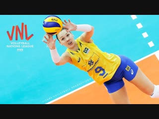Roberta Silva Ratzke - BEST Volleyball SETS. Crazy Actions. Womens VNL 2018