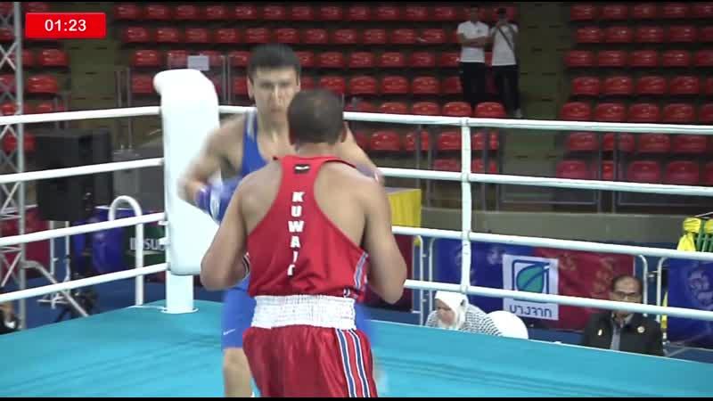 Без вариантов. Видео полного боя с нокдауном и нокаутом от казахстанского чемпиона Исламиады на ЧА-2019