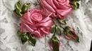 Cách thêu hoa hồng trên ren Ribbon Embroidery