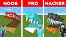 Minecraft NOOB vs PRO vs HACKER HIDDEN TRAP CHALLENGE in minecraft Animation