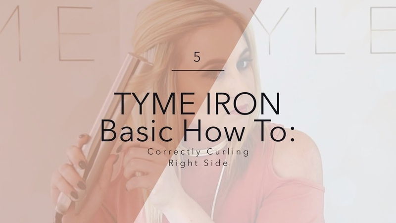TYME Iron Basic How To: Correctly Curling the Right Side