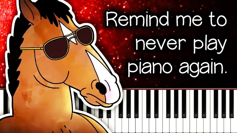 Why is BoJack Horseman SO HARD on piano