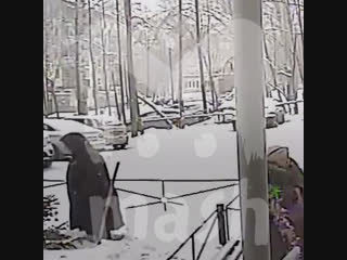 В ижевске два пьяненьких парня вырвали с корнем елку