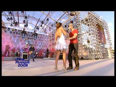 Enrique Iglesias et Nadiya - Tired of Being Sorry. Féte de la Musique 21 06 2008