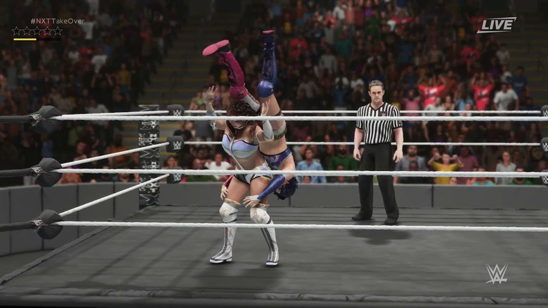 WWE 2K19: Kairi Sane vs Asuka for NXT title.