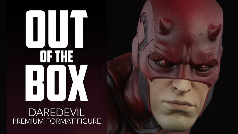 Unboxing Marvel Exclusive Daredevil Sideshow Collectibles Figure