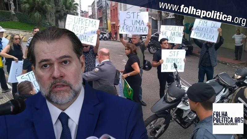 Dias Toffoli ministro do STF é vaiado e escrachado por cidadãos no Espírito Santo