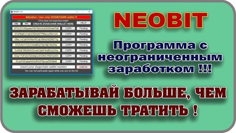 NeoBit - обзор, всё по порядку.
