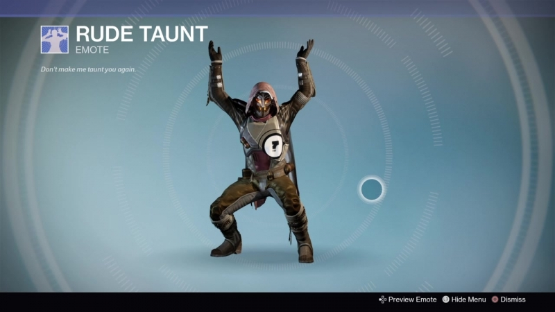 Destiny_20180911 BLACK HUNTER MOON . DANCE RUDE TAUNT .