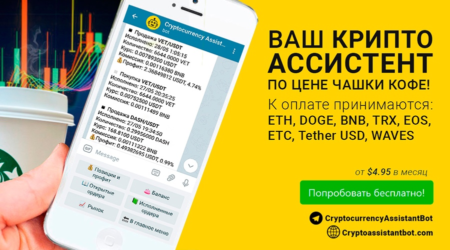 Криптовалютный Telegram бот Cryptocurrency Assistant UbodkhO-7SA