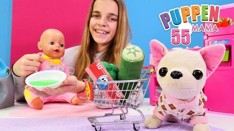 Puppen Mama Lolli geht Einkaufen Spielzeugvideo für Kinder