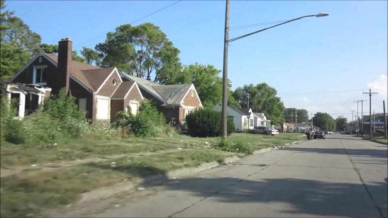Детройт (Мичиган, США), разруха гетто реп, часть 3