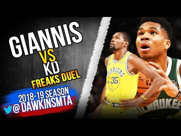 Giannis Antetokounmpo vs Kevin Durant FREAKS Duel 2018.11.08 - Giannis With 24 Pts, 9 Rebs, 4 Asts!