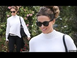 Kate Beckinsale Wears Hair in Chic Updo For Super Bowl Party as She Goes Braless