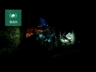 Появилось видео с места падения вертолета в Костромской области