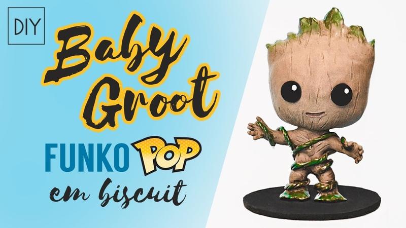 DIY Como fazer Baby GROOT Funko POP em Biscuit – Guardiões da Galáxia | Dan Pugno
