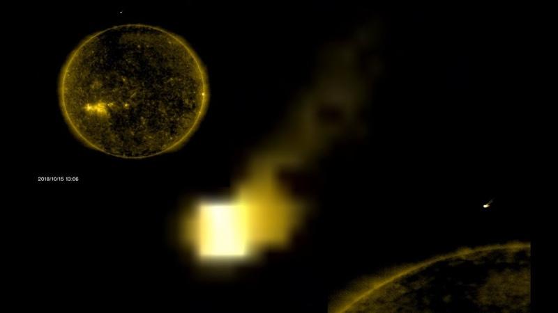 Earth Size UFO Cube Returns To Sun Today, NASA/SOHO link, Oct 16, 2018, UFO Sighting News.
