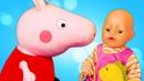 Развивающий коврик для куклы беби бон. Видео на английском языке.