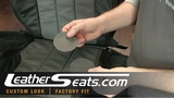 Dodge Nitro 2-tone Graphite Light Gray Leather interior upholstery kit package - LeatherSeats.com