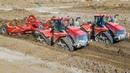 CASE IH QUADTRAC   Biggest Tractors   Construction Site   Caterpillar Excavator   Part 1