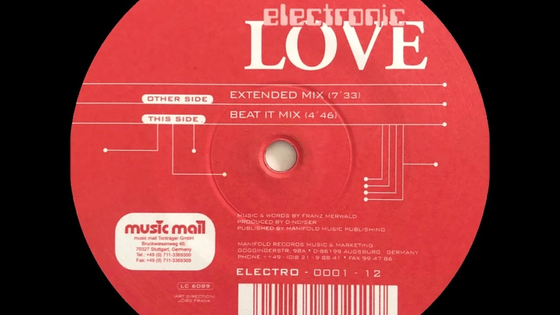 Envelope - Electronic Love (Extended Mix)(Manifold Records Music Marketing 1998)