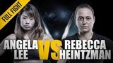 ONE Full Fight Angela Lee vs. Rebecca Heintzman-Rozewski Outstanding Submission February 2016