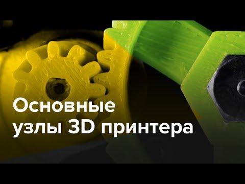 Основные узлы 3D принтера | Вебинар