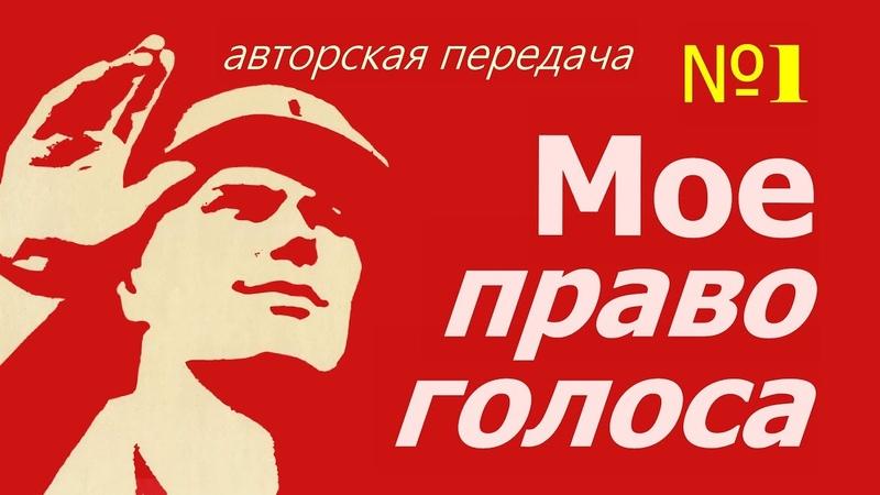 Мое право голоса 1 авторская передача гражданин СССР Кемерово Кузбасс РСФСР 23 01 2019.