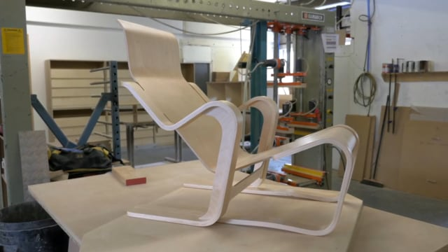 Moulding a seat for Marcel Breuer's Short Chair