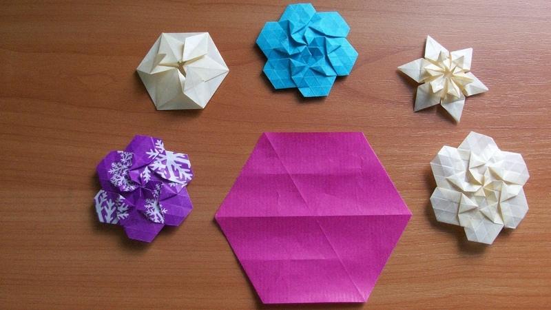 Оригами Из Шестиугольника.Как сделать шестиугольник из прямоугольника без линейки и карандаша