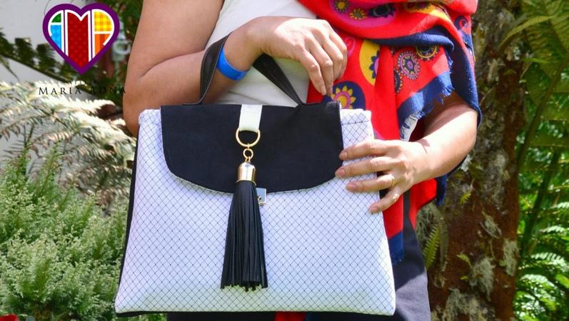 Aula em vídeo da bolsa de tecido Madlen. Elegant fabric bag tutorial. Fabric bags