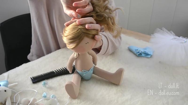 Handmade interior doll's Ballerina presentation | Interjerinės lėlytės - pristatymas