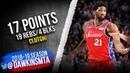Joel Embiid Full Highlights 2019.03.12 76ers vs Cavs - 17-19-4 Blks, CLUTCH! | FreeDawkins