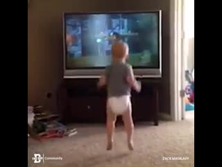 Baby nails rocky training montage - the dad