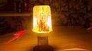 Очень крутая LED лампа с имитацией пламени