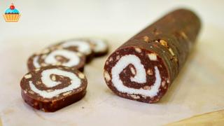 Десерты  •  ШОКОЛАДНАЯ КОЛБАСКА С КОКОСОМ БАУНТИ - ну, оОчень вкусная! Такую вы еще не пробовали!