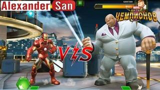 Марвел Битва Чемпионов | Железный Человек и Халк против Капитан Америка| Marvel Contest of Champions