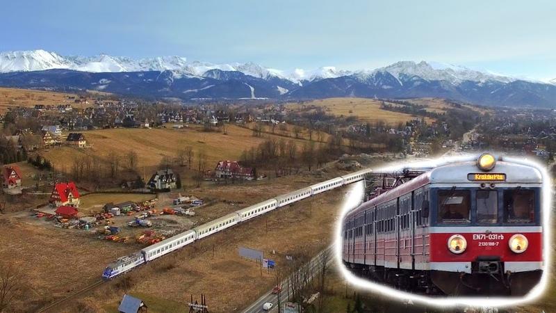 Pociągi u podnóży Tatr - kolej z lotu drona