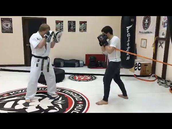 Отработка ударки при помощи тренажёра для ударников от Band4power