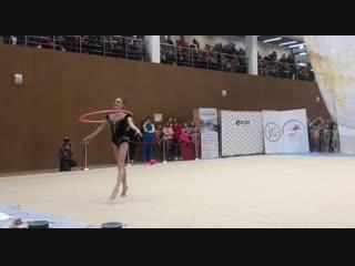 Анна Соколова - Показательное выступление с обручем.