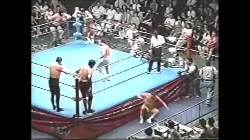 1996 07 24 Jumbo Tsuruta Rusher Kimura Mitsuo Momota vs Mighty Inoue Masao Inoue Haruka Eigen